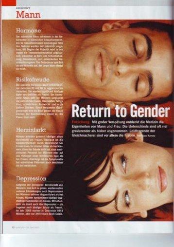 Artikel über Gender-Medizin, Teil 1
