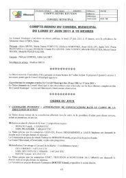 COMPTE-RENDU DU CONSEIL MUNICIPAL - Allemont