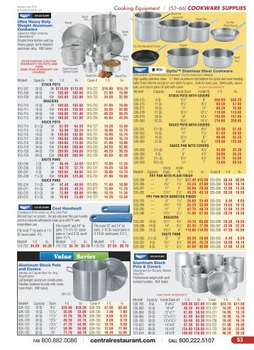 Cookware Supplies - Central Restaurant Products