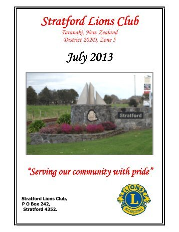 July 2013 Bulletin - Lions Clubs New Zealand
