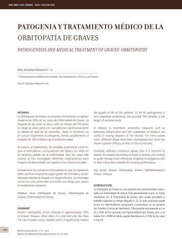 PATOGENIA Y TRATAMIENTO MéDICO DE LA OrbitOpatía dE GravEs