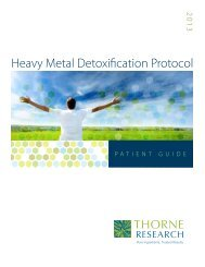 Heavy Metal Detox Patient Guide 2013 - Thorne Research