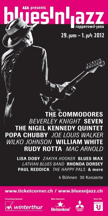 the commodores beverley knight seven the nigel kennedy quintet ...