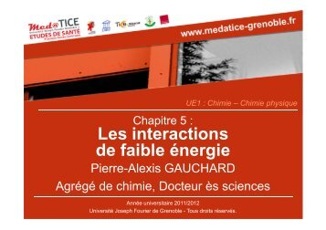 Interactions électrostatiques - Université Virtuelle Paris 5
