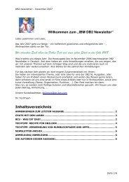 """Willkommen zum """"IBM DB2 Newsletter"""" Wir ... - IBM Distribution"""
