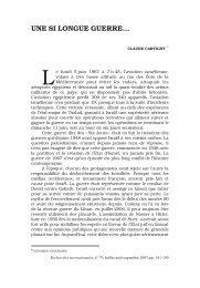 Claude Cartigny :.Une si longue guerre - Recherches internationales