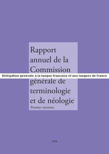 2008 - Délégation générale à la langue française et aux langues de ...