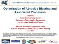 Optimization of Abrasive Blasting and Associated Processes - NSRP