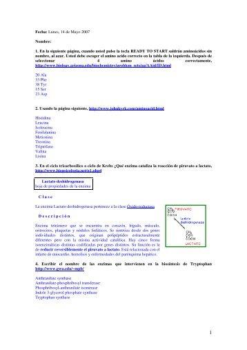Fecha: Lunes, 14 de Mayo 2007 Nombre: 1. En la ... - BioScripts