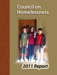 Council on Homelessness 2011 Report - Florida Department of ...