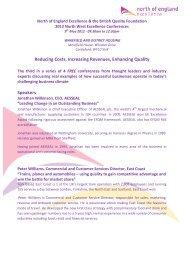 Reducing Costs, Increasing Revenues, Enhancing Quality Speakers
