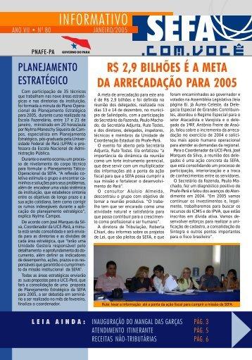 Informativo nº 80 - Janeiro - Sefa