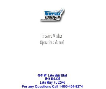 Download Operator's Manual Here - Water Cannon