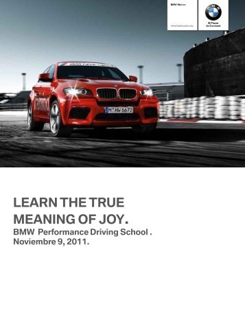 LEARN THE TRUE MEANING OF JOY. - BMW