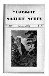 Vol . XXV September, 1946 No. 9 - Yosemite Online
