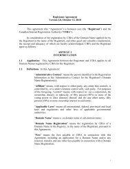 Registrant Agreement Version 2.0, October 12, 2010 This ... - CIRA