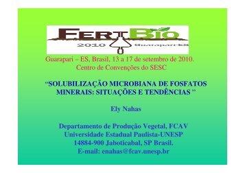 """""""SOLUBILIZAÇÃO MICROBIANA DE FOSFATOS ... - Fundagres"""