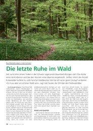 Die letzte Ruhe im Wald - Waldwissen.net