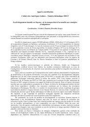 Appel à contribution Cahiers des Amériques Latines ... - Calenda