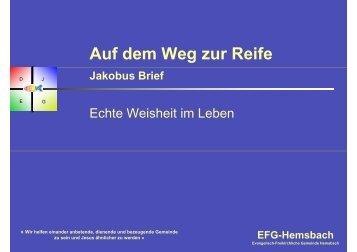Wirkliche Weisheit - EFG Hemsbach