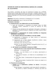INFORME DEL GRUPO DE INSUFICIENCIA CARDÍACA DE LA ...