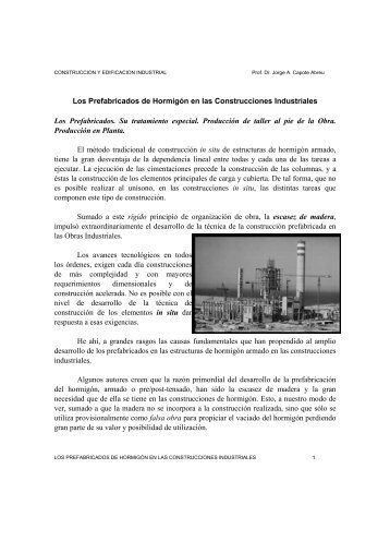 Los Prefabricados de Hormigón en las Construcciones Industriales ...
