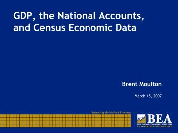 GDP, the National Accounts, and Census Economic Data