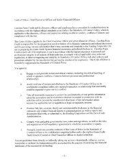 code of ethics - Carolina Farm Credit