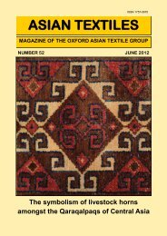 ASIAN TEXTILES - OATG. Oxford Asian Textile Group