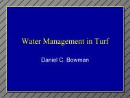 Water Management in Turf - TurfFiles