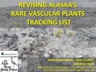 Ranking - Alaska Natural Heritage Program