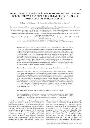 estratigrafía y petrología del subsuelo precuaternario del sector sw ...