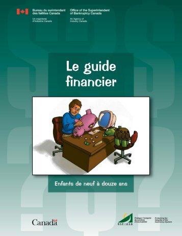 Le guide financier pour les enfants de neuf à douze ans - UQAC