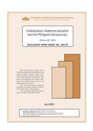 Globalization, Redemocratization and the Philippine Bureaucracy