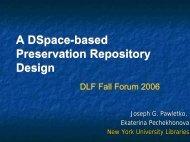 Presentation - Digital Library Federation