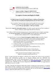La sopravvivenza oncologica in Italia - Epidemiologia & Prevenzione