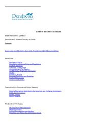 Code of Business Conduct - Thecorporatelibrary.net