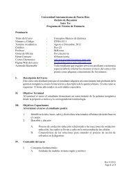 Universidad Interamericana de Puerto Rico Recinto de Bayamón ...