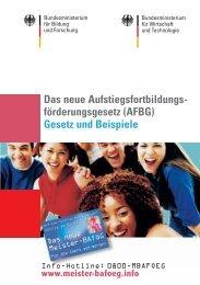 AFBG - Weiterbilden - Ausbilden - Prüfen