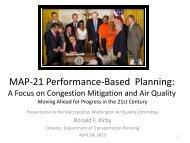 MAP-21 Presentation - Metropolitan Washington Council of ...