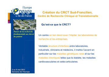 Présentation du CRCT - Genopole