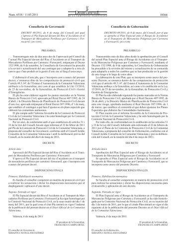 decret 49/2011 - Diari Oficial de la Comunitat Valenciana ...