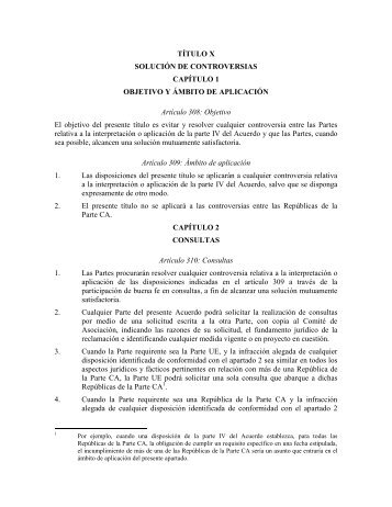 TÍTULO X SOLUCIÓN DE CONTROVERSIAS CAPÍTULO 1 ...