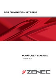 GPS NAVIGATION SYSTEM MAIN USER MANUAL - Zenec