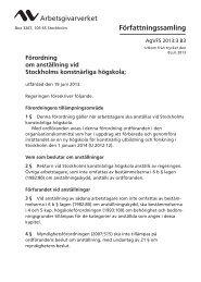 Förordning om anställning vid Stockholms ... - Arbetsgivarverket