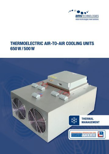 thermoelectric air-to-air cooling Units 650 W / 500 W - AMS ...