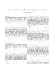 Grid-based Distributed Data Mining Systems, Algorithms and ... - SIAM