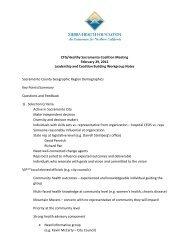 Feb. 29, 2012, Workgroup Notes (PDF) - Sierra Health Foundation