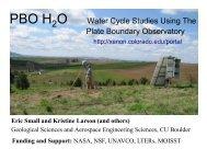 O Water Cycle Studies Using The Plate Boundary ... - SMAP - NASA