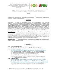 Asian Program for Incubation of Environmental Leaders-Field ...